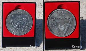 Medalion na 600-lecie Bitwy pod Grunwaldem