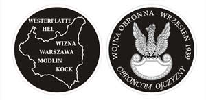 "Medalion ""Wrzesień 1939"" - projekt 1"