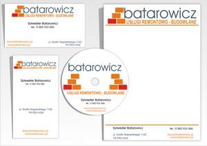"""Wizytówki, papier firmowy """"Batarowicz"""""""