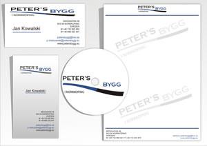 """Wizytówki, papier firmowy """"Peters Bygg"""""""