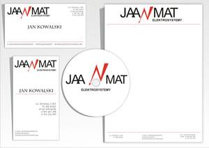"""Wizytówki, papier firmowy """"Jaanmat"""""""