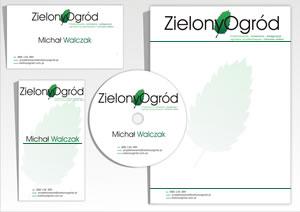 """Wizytówki, papier firmowy """"Zielony Ogród"""""""